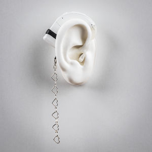 Heart Chain - Hearing Aid Jewelry