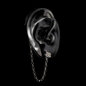 Silver Rose - Hearing Aid Jewelry