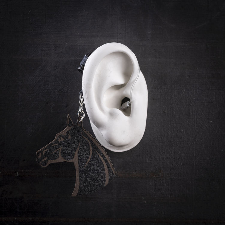 Black Horse - Hearing Aid Jewelry