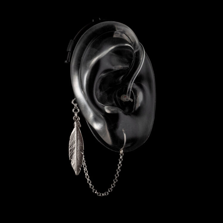 Lonely Feather - Hearing Aid Jewelry